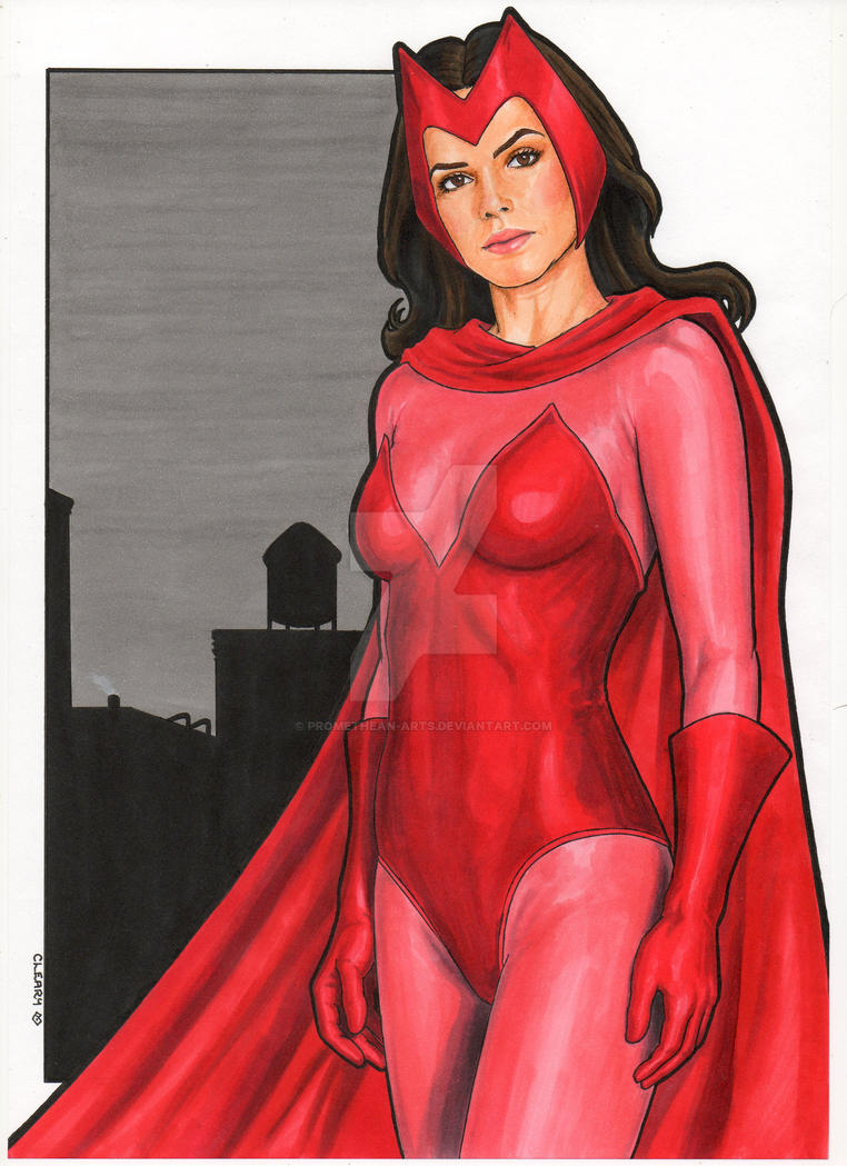 Marvel Comics : Scarlet Witch by Promethean-Arts