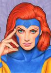 Jean Grey portrait X-men