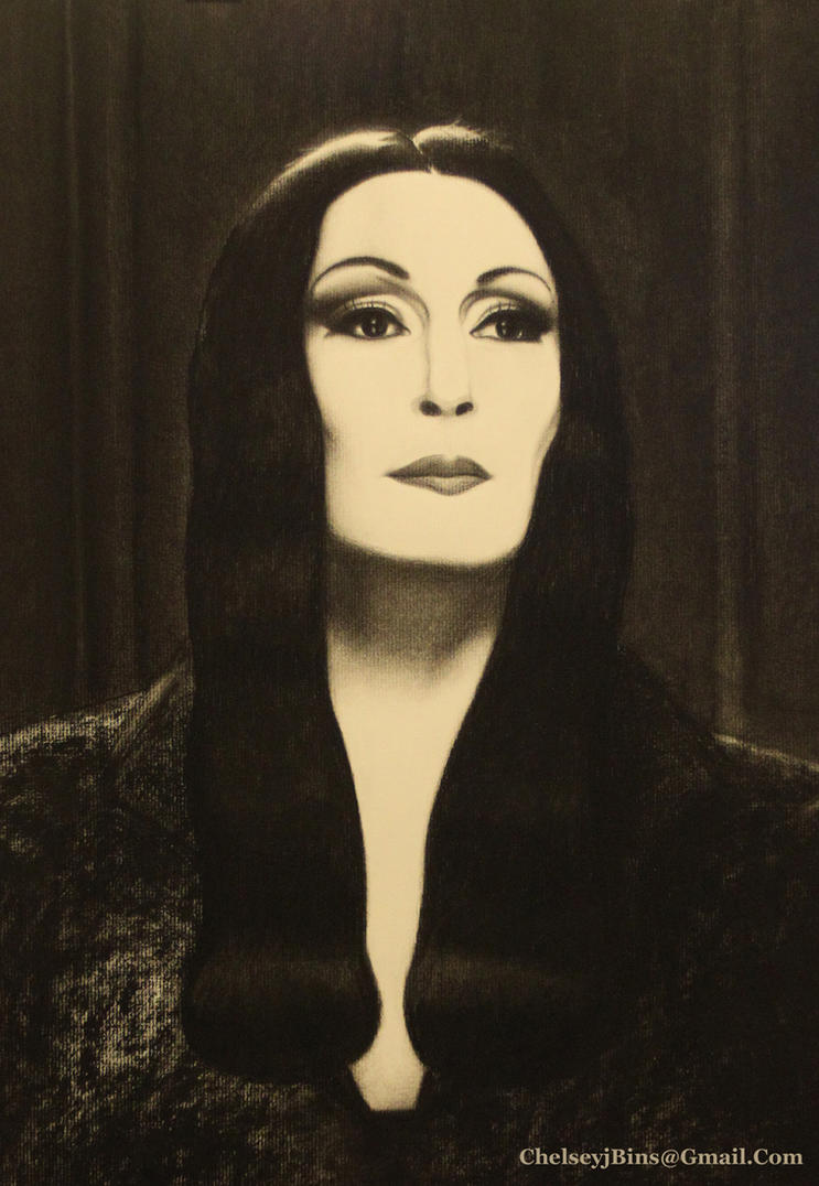 Morticia Addams (Angelica Huston) by Pixie-Vixen