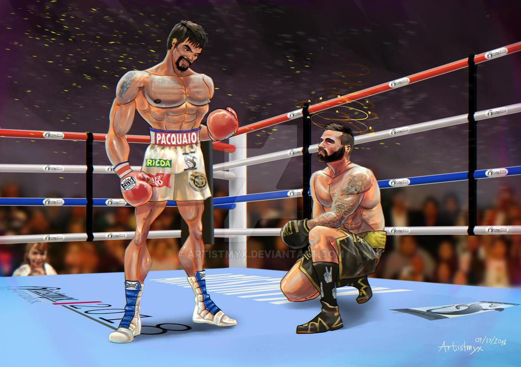 Pacquiao vs. Matthysse (Stylized anatomy) by artistmyx