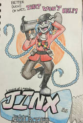 TF2/LOL crossover: Jinx as Soldier by MrDataTheAwesome