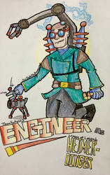 TF2/LOL crossover: Engineer as Heimerdinger by MrDataTheAwesome