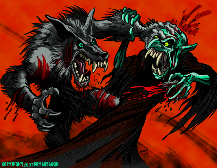 Werewolf Versus Vampire by BryanBaugh on DeviantArt