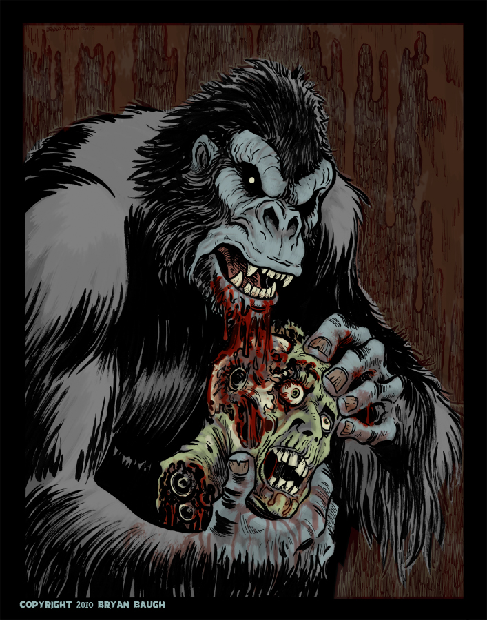 Gorilla Who Rips Heads Off by BryanBaugh