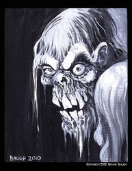 Drippy Zombie Paint Sketch by BryanBaugh