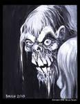 Drippy Zombie Paint Sketch