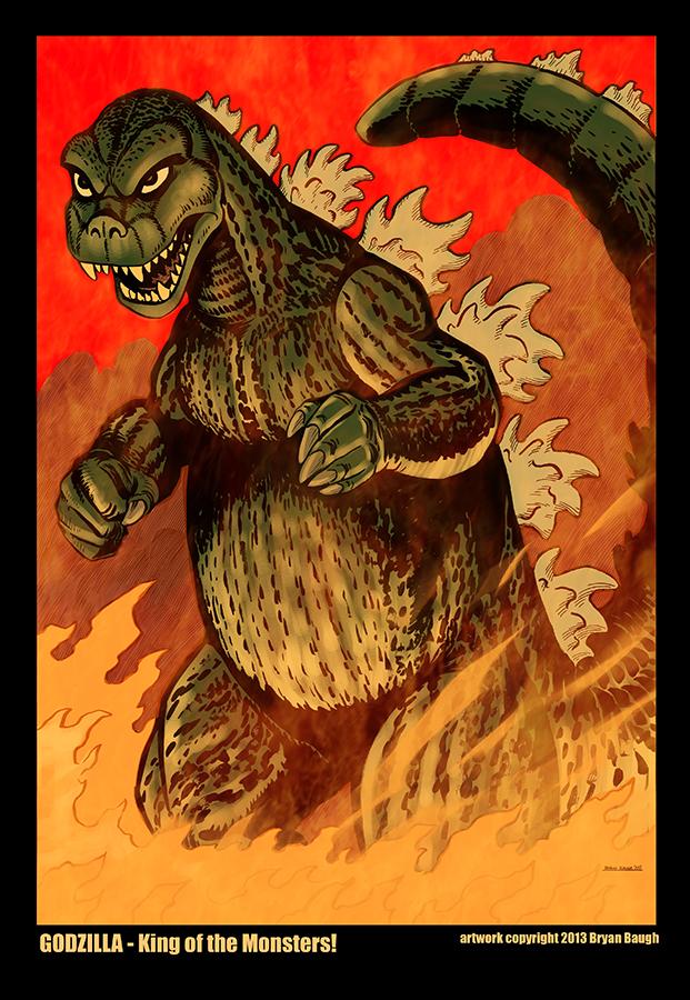 Godzilla by BryanBaugh