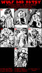 Wulf and Batsy Artist Sketch Cards page 3