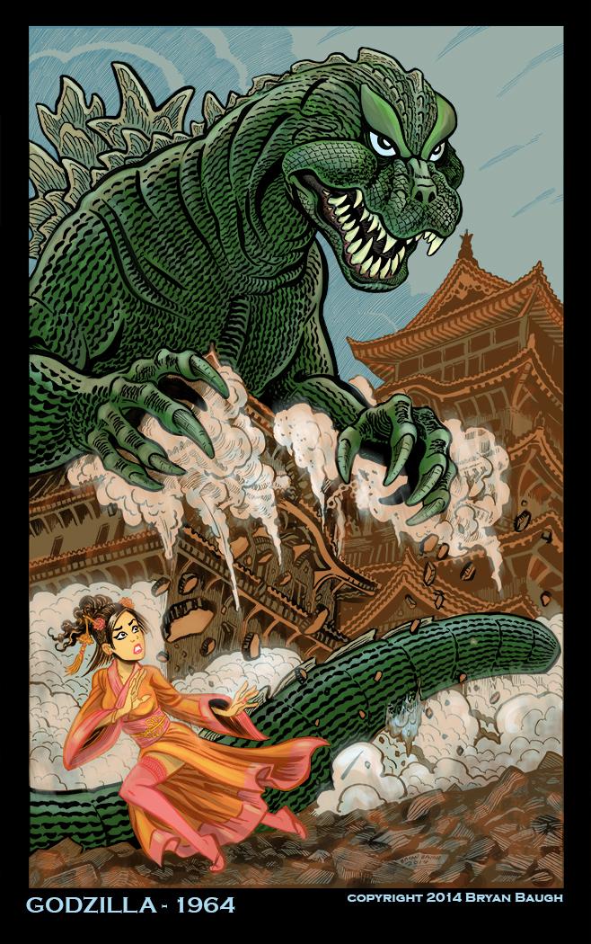 Godzilla 1964 by BryanBaugh