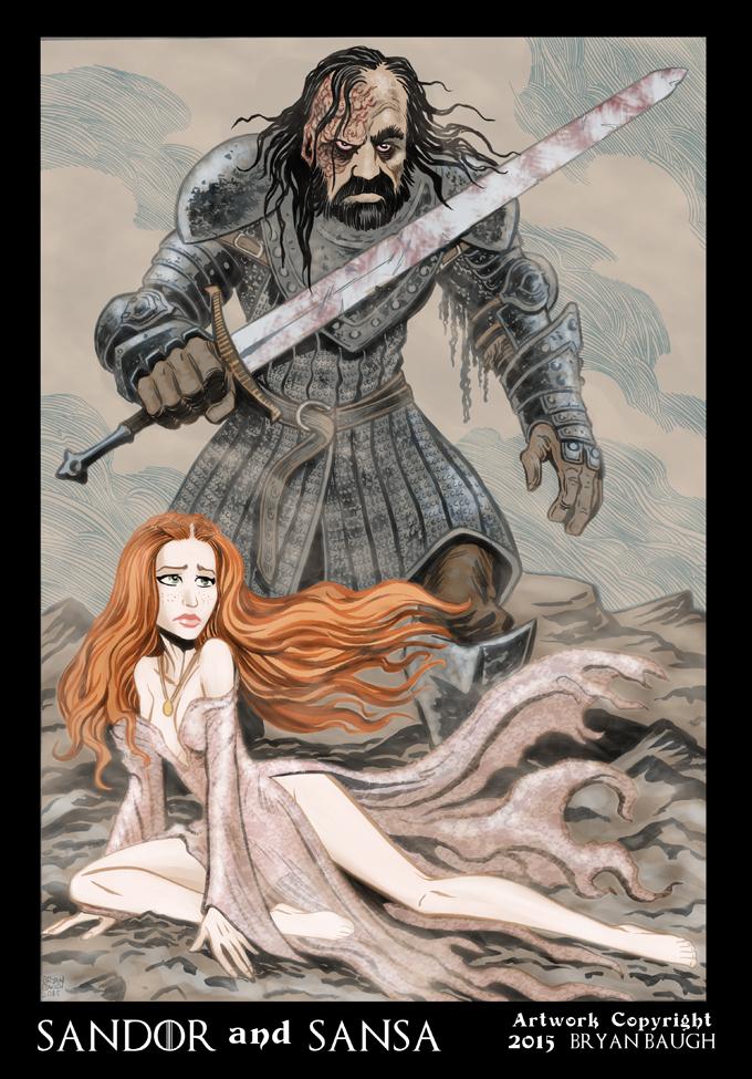 Sandor and Sansa by BryanBaugh