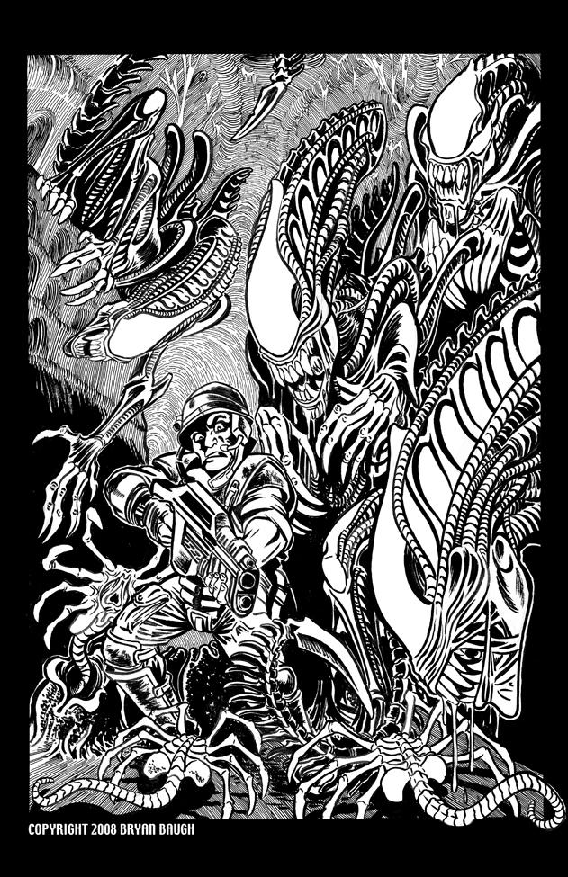 aliensBW by bryan baugh by BryanBaugh