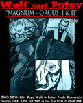 WULF and BATSY: MAGNUMORGUS Pre Order Offer