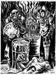 INKTOBER 2017 Day 9: The Acid Bath Murders