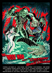 WOLFMAN Meets CREATURE from the BLACK LAGOON by BryanBaugh