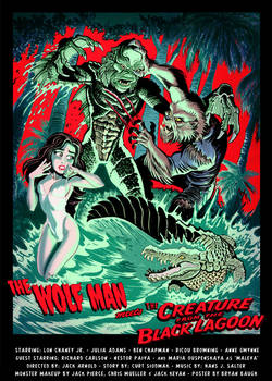 WOLFMAN Meets CREATURE from the BLACK LAGOON