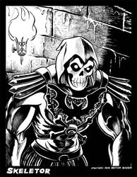 SKELETOR from Masters of the Universe B and W
