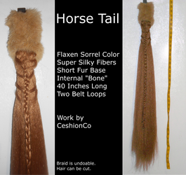 Flaxen Sorrel Horse Tail by CeshionCo