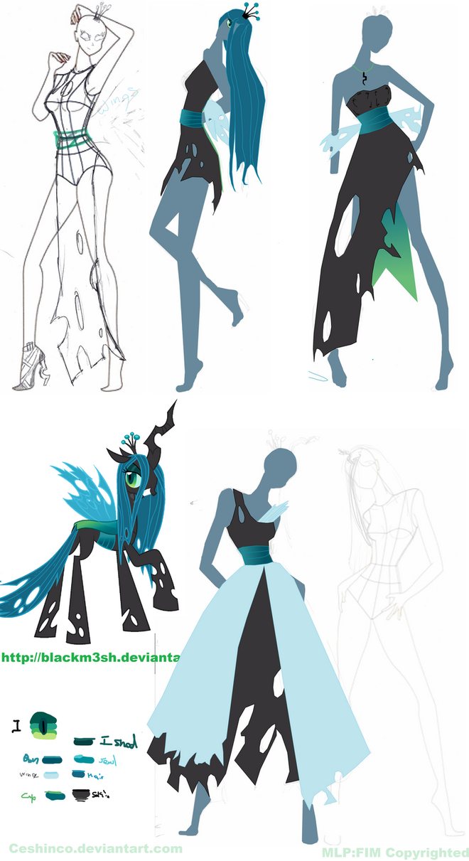 Queen Chrysalis Skech Mash up by CeshionCo