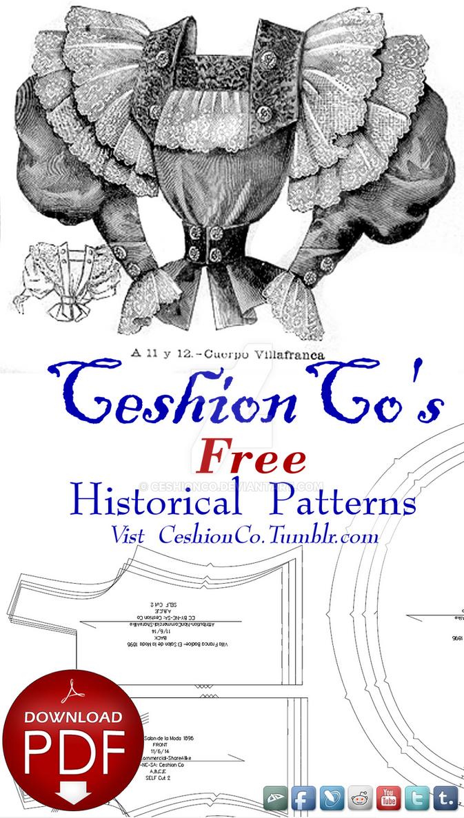 Free Victorian Sewing Patterns by CeshionCo on DeviantArt