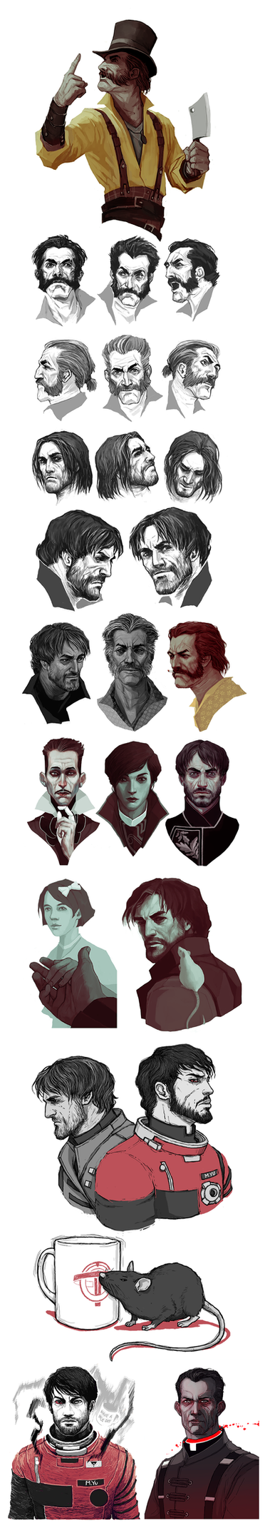 Dishonored: Sketchdump II by coupleofkooks