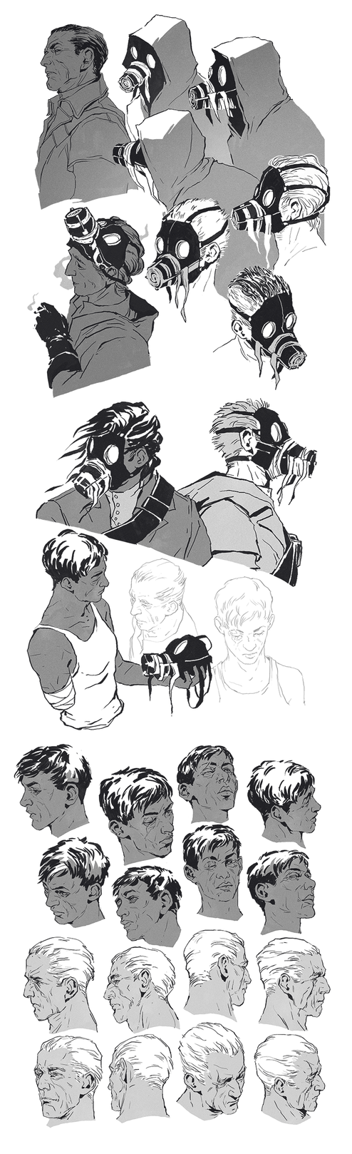 Sketchdump: Whalers by coupleofkooks