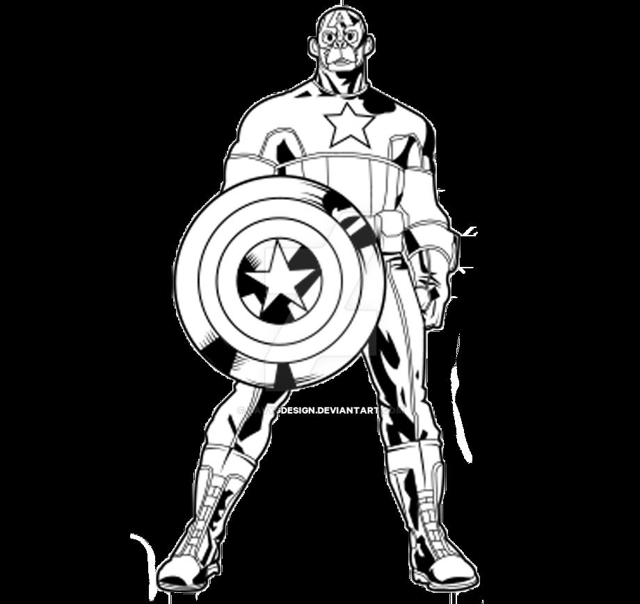 Line Art America : Outline captain america monkey by davygdesign on deviantart