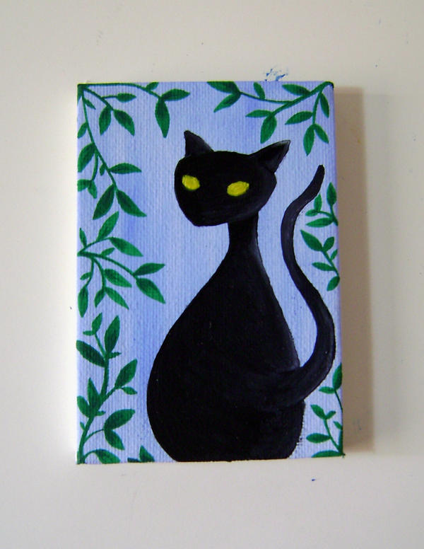 Cat on canvas. 02. by ghehcore