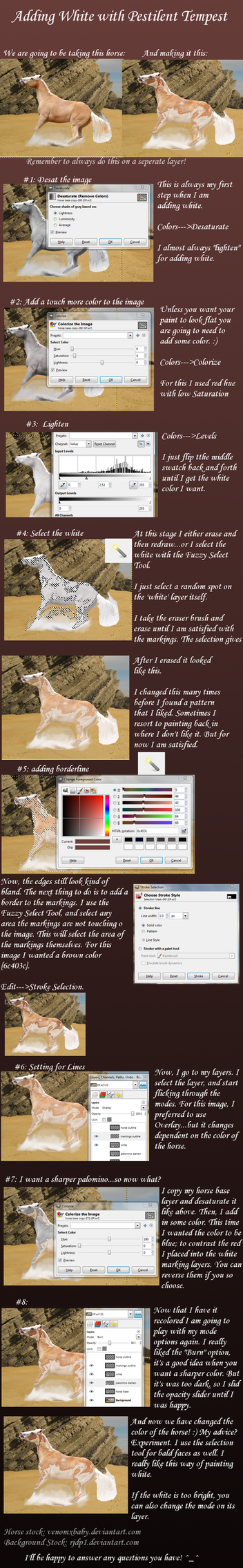 Adding white Tutorial by PestilentTempest