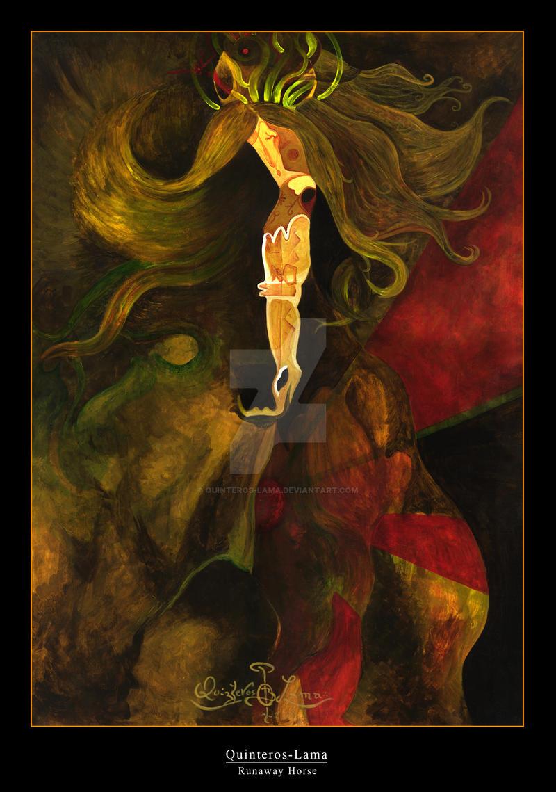 Runaway Horse by quinteros-lama