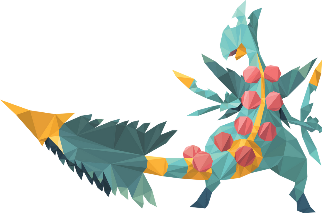 Top Shiny Mega Sceptile (Low Poly Art) by Corrupt-VoidLich on DeviantArt WJ99