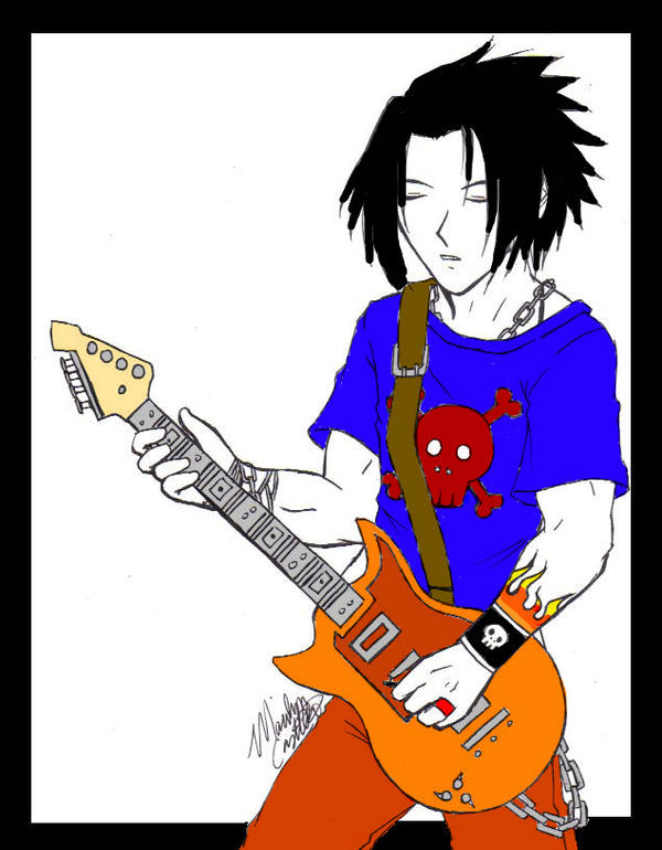 Rock Star Sasuke-Coloured by NintendoGal55