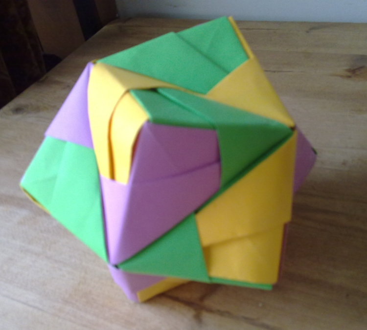 origami octahedron by machinesway on deviantart