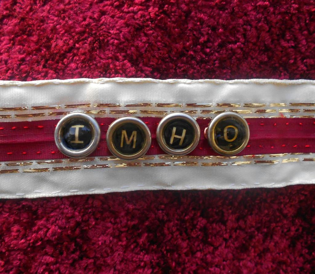 IMHO Faux Typewriter Key Choker by Fandragon