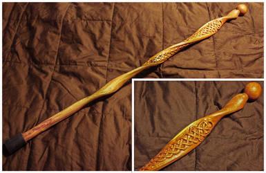 Celtic Knotwork Cedar Cane by Fandragon
