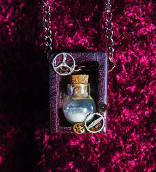 Steampunk Bottle Pendant by Fandragon