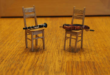 Miniature Instruments and Chairs