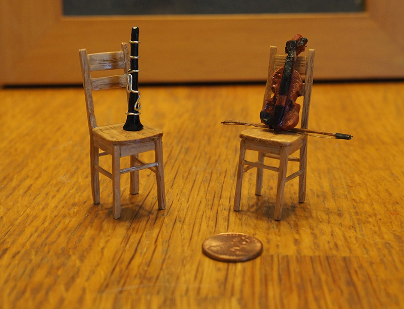 Miniature instruments and Chairs alternate view by Fandragon