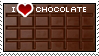 I Love Chocolate Stamp by BockySeles