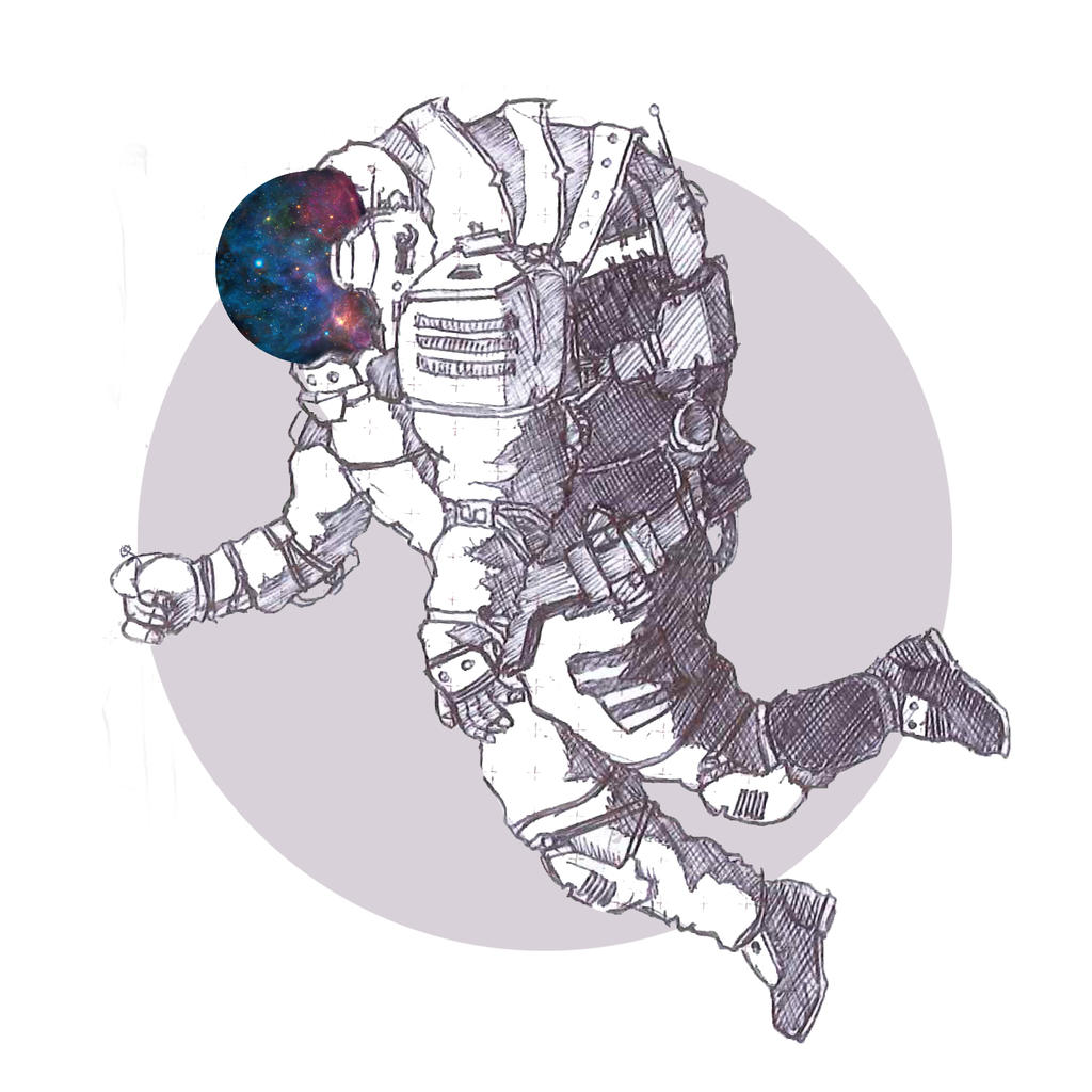Fly me to the moon - astronaut illustration by JosefHirsch ...