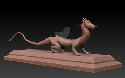 Chinese Dragon Zbrushed