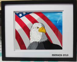 Patriotic Eagle Cel