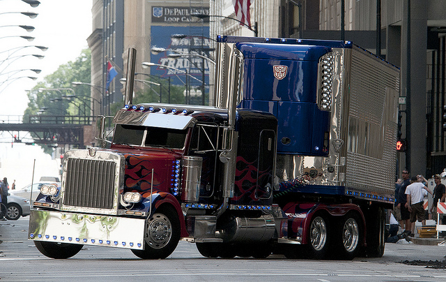 Optimus Prime with his trailer by TFGlider on DeviantArt