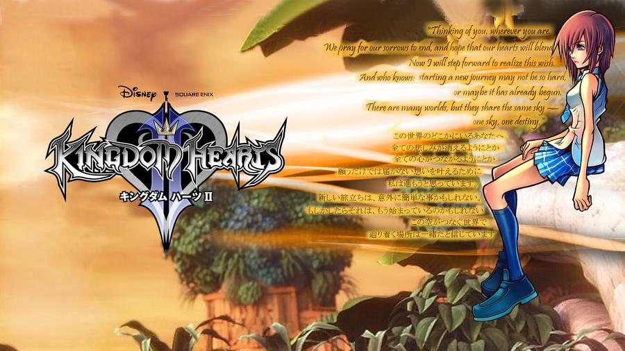 Wallpaper Kairi Kingdom Hearts II by guichearmo on DeviantArt