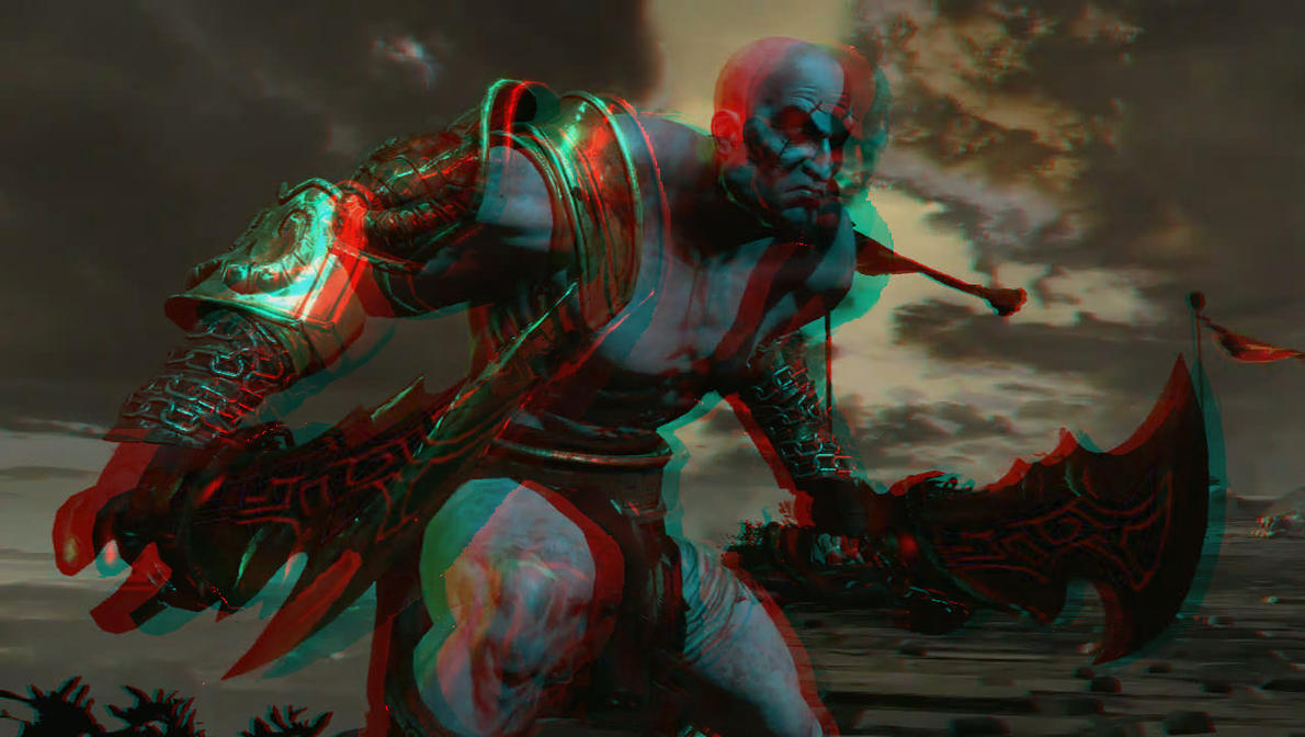 The god of war in 3d by guichearmo on deviantart the god of war in 3d by guichearmo voltagebd Images