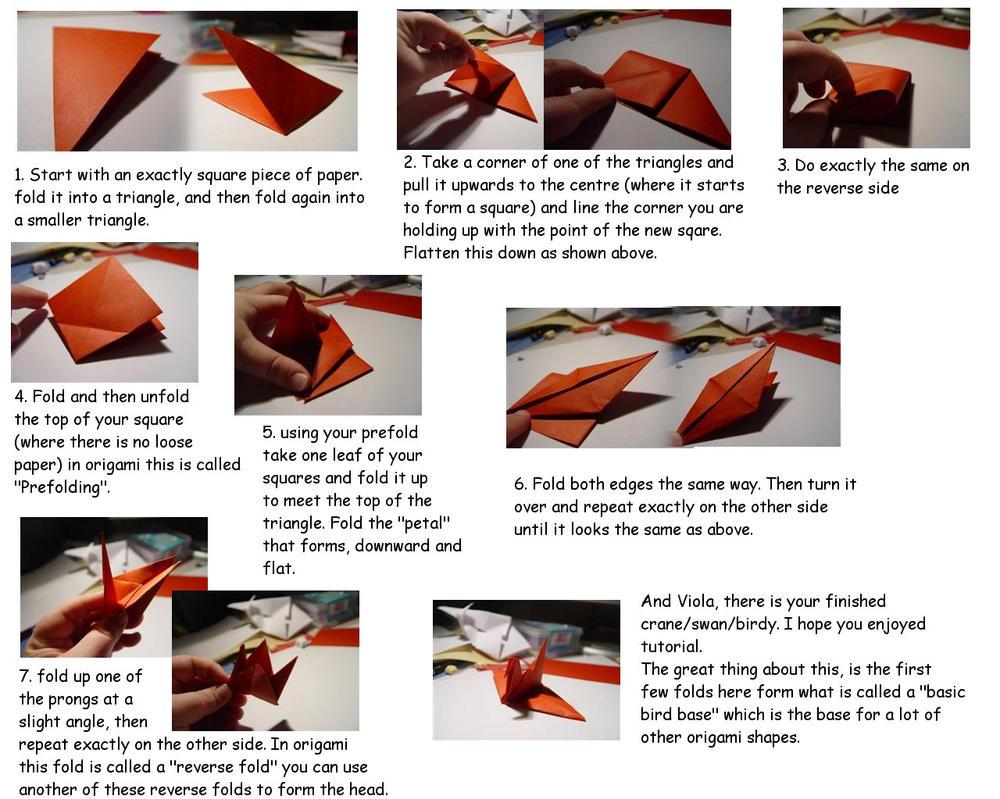 Crane Bird Origami TUTORIAL by carriephlyons on DeviantArt - photo#33