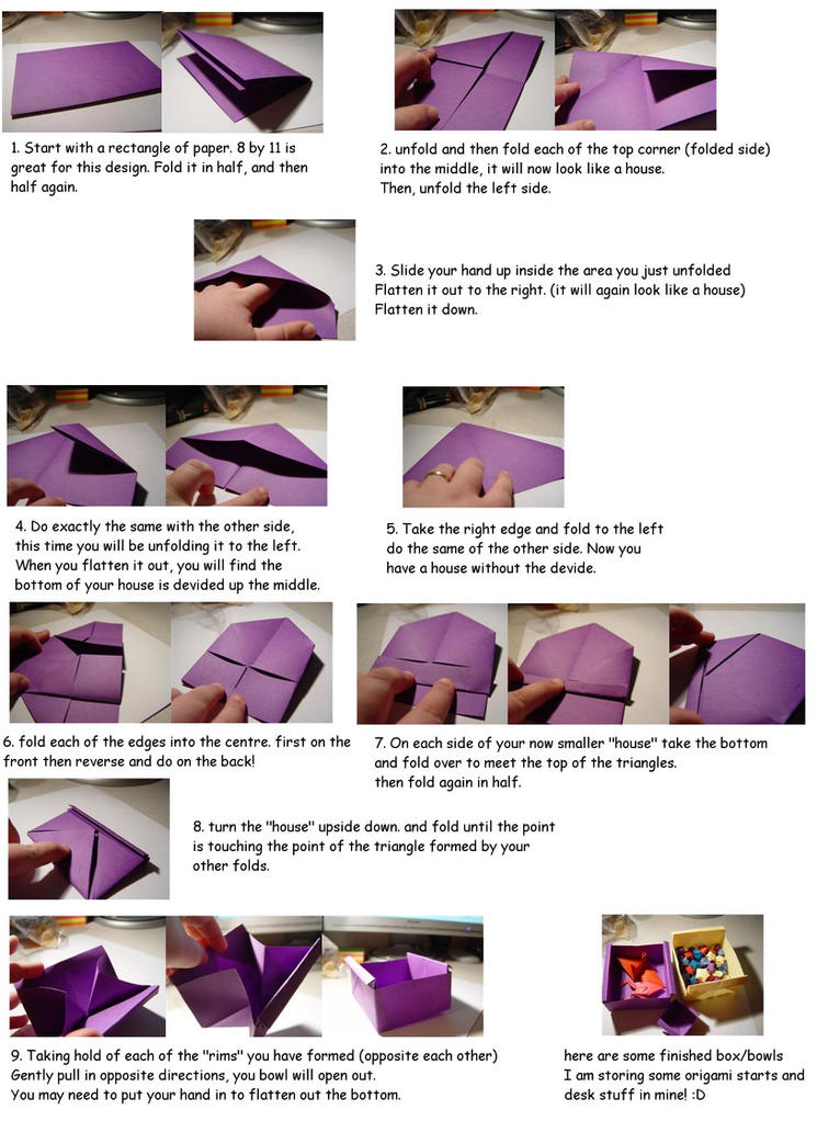 Origami Box Bowl TUTORIAL By Carriephlyons
