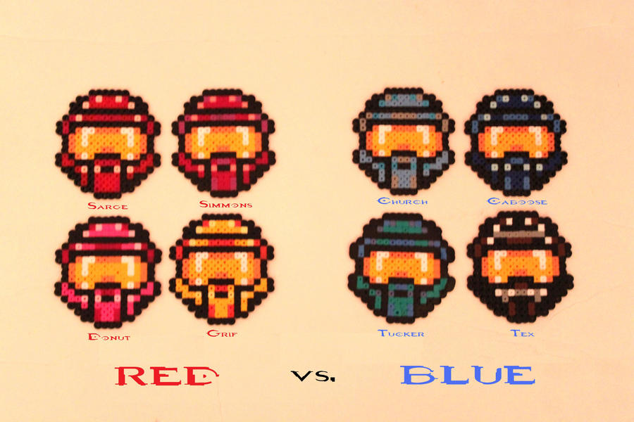 Rvb coasters: perler beads by sunsetsovereign