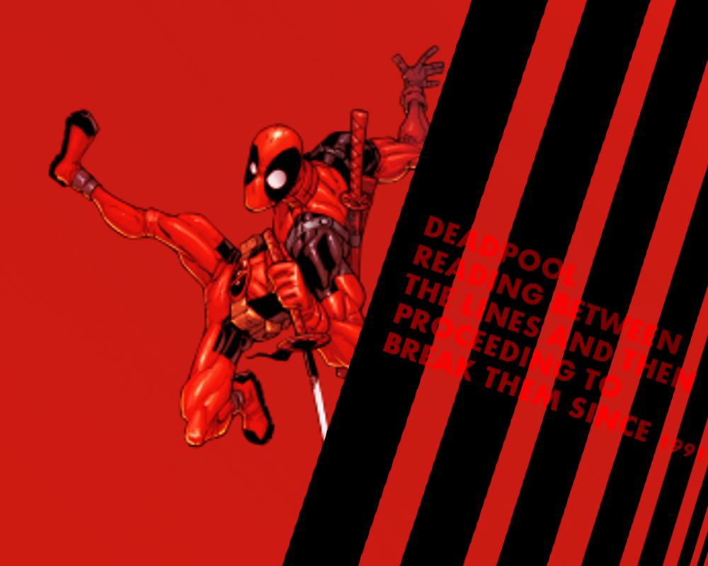 Deadpool Read Bw The Lines Wallpaper By Darklordmokeymokey