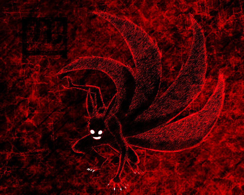 Simple Wallpaper Naruto Tail - naruto_4_tails_wallpaper_by_darklordmokeymokey-d61j28z  HD.png