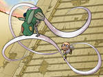 WIFL: Frankenbunny vs Mr. Mustache by Pandachu